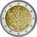 2 Euro Estonie 2020 - 100 ans du Traité de paix de Tartu