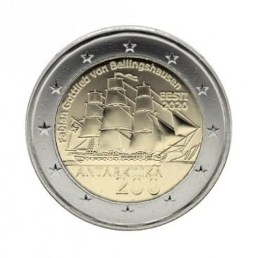 2 Euro Estonie 2020 - 200 ans de la découverte de l'antarctique