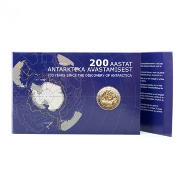 Coincard 2 Euro Estonie 2020 Bu - 200 ans de la découverte de l'antarctique