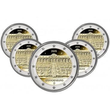 5 x 2 euro Allemagne 2020 - Palais de Sanssouci