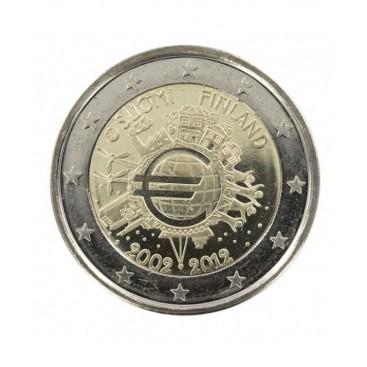 "2 Euro ""10 ans de l'euro "" Finlande 2012"