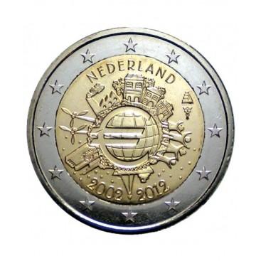 """2 Euro """"10 ans de l'euro """"Pays Bas 2012"""
