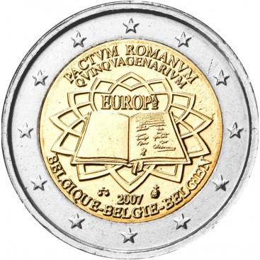 2 Euro Belgique 2007 Traité de Rome