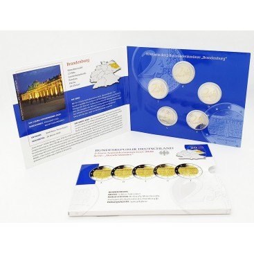 5 x 2 euro BE Allemagne 2020 Palais de Sanssouci