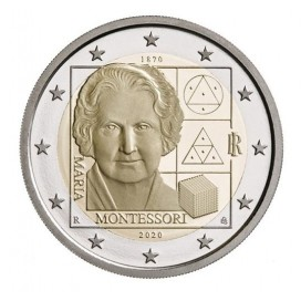 2 Euro Italie 2020 - 150 ans de la naissance de Maria Montessori