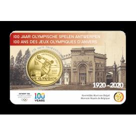 Coincard 2,50 Euro Belgique 2020 - Jeux Olympiques d'Anvers