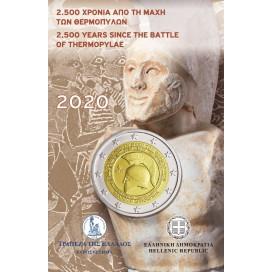 Coincard 2 Euro Grèce 2020 - 2500 ANS DE LA BATAILLE DES THERMOPYLES