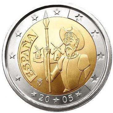 2 Euro ESPAGNE 2005 Don Quichotte