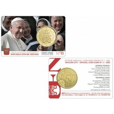 Coincard 50 cents Vatican 2020