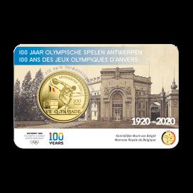 Coincard colorisée 2,50 Euro Belgique 2020 - JO d'Anvers