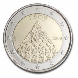 2 Euro Finlande 2009 200 ans Autonomie de Finlande