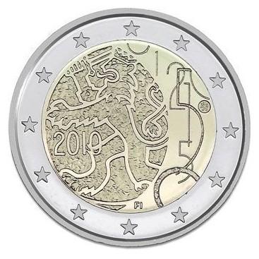 2 Euro Finlande 2010 150 ans Monnaie Finlande