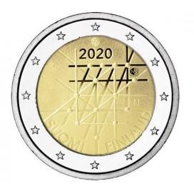 2 Euro Finlande 2020 - Centenaire de l'Université de Turku