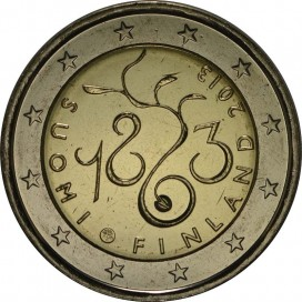 2 Euro Finlande 2013 150 ans du Parlement