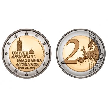 2 Euro Portugal 2020 - 730 ans de l'université de Coimbra