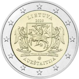 2 Euro Lituanie 2020 - Région de Aukstaitija