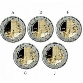 5 x 2 euro Allemagne 2020 - 50 ans de la Génuflexion de Willy Brandt