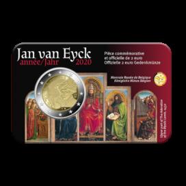 Coincard Francaise 2 Euro Belgique 2020 - Jan van Eyck