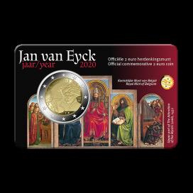 Coincard Flamande 2 Euro Belgique 2020 - Jan van Eyck