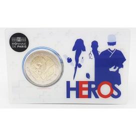 Coincard 2 Euro France 2020 - Recherche Médicale version Heros