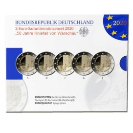 5 x 2 euro Allemagne 2020 Belle Epreuve BE - Willy Brandt