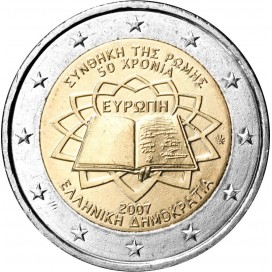 2 Euro Grèce 2007 Traité de Rome