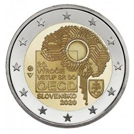2 Euro Slovaquie 2020 - 20 ans de l'adhésion à l'OCDE