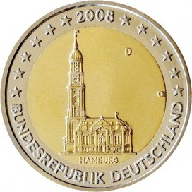 2 Euro Allemagne 2008 - Hambourg