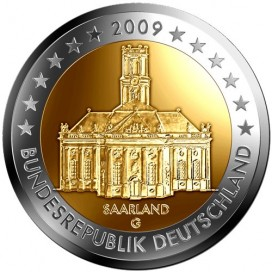 SET 5 X 2 Euro Allemagne 2009 - Sarre