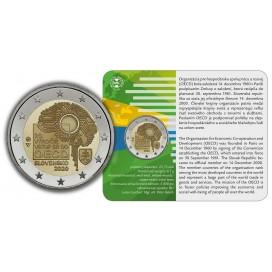 Coincard 2 Euro Slovaquie 2020 BU - 20 ans de l'adhésion à l'OCDE