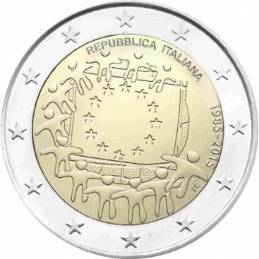 2 Euro Italie 2015-Drapeau