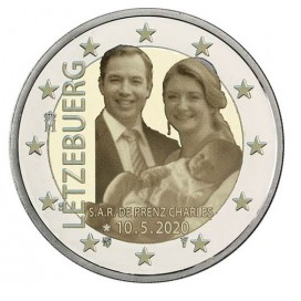 2 Euro Luxembourg 2020 Naissance du prince Charles version hologramme