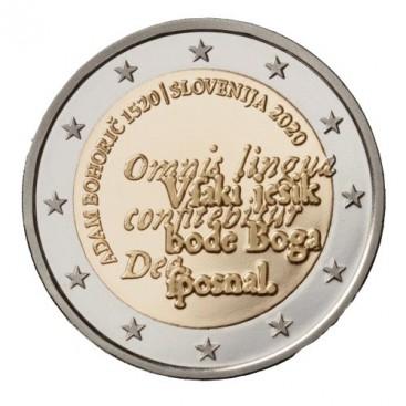 2 Euro Slovénie 2020 - 500e anniversaire de la naissance d'Adam Bohorič