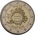 2 Euro MALTE 2012 10 ans de l'Euro