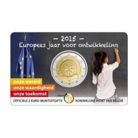2 Euro Belgique 2015 Année du Développement