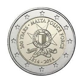 2 euro commémorative MALTE 2014 Police