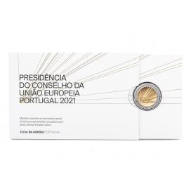 2 Euro BE Portugal 2021 - Présidence du Conseil de l'Europe