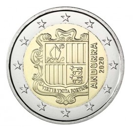 2 Euros Andorre courante 2020