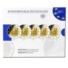 5 x 2 euro Allemagne 2021 Belle Epreuve BE - Cathédrale de Magdebourg