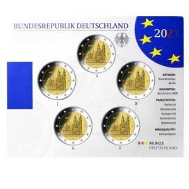 5 x 2 euro Allemagne 2021 Brillant Universel BU - Cathédrale de Magdebourg