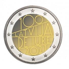 2 Euro BU Lettonie 2021 - 100 ans de Jure