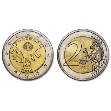 2 euro PORTUGAL 2014 Revolution des oeillets