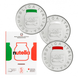 3 x 5 euro Italie 2021 - Nutella