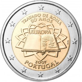 2 Euro Portugal 2007 Traité de Rome
