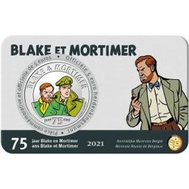 5 euro Belgique 2021 - 75 ans de Blake et Mortimer version Couleur