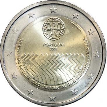 2 Euro Portugal 2008 Droits de l'Homme