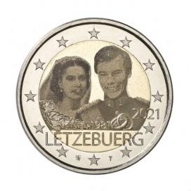 2 Euro Luxembourg 2021- 40e anniversaire de mariage du Grand-Duc Henri