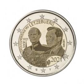 2 Euro Luxembourg 2021- 100e anniversaire du Grand-Duc Jean version photo