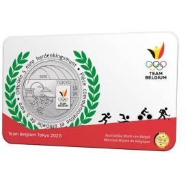 5 euro Belgique 2021 - Team Belgium - Jeux olympique de Tokyo version couleur