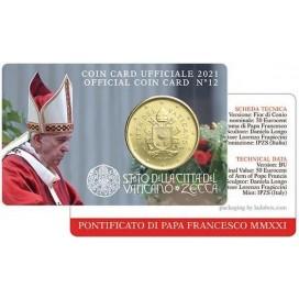 Coincard 50 cents Vatican 2021